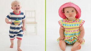 Nyári divat babáknak, totyogóknak - napsapka, napozó, fejkendő, kisruha