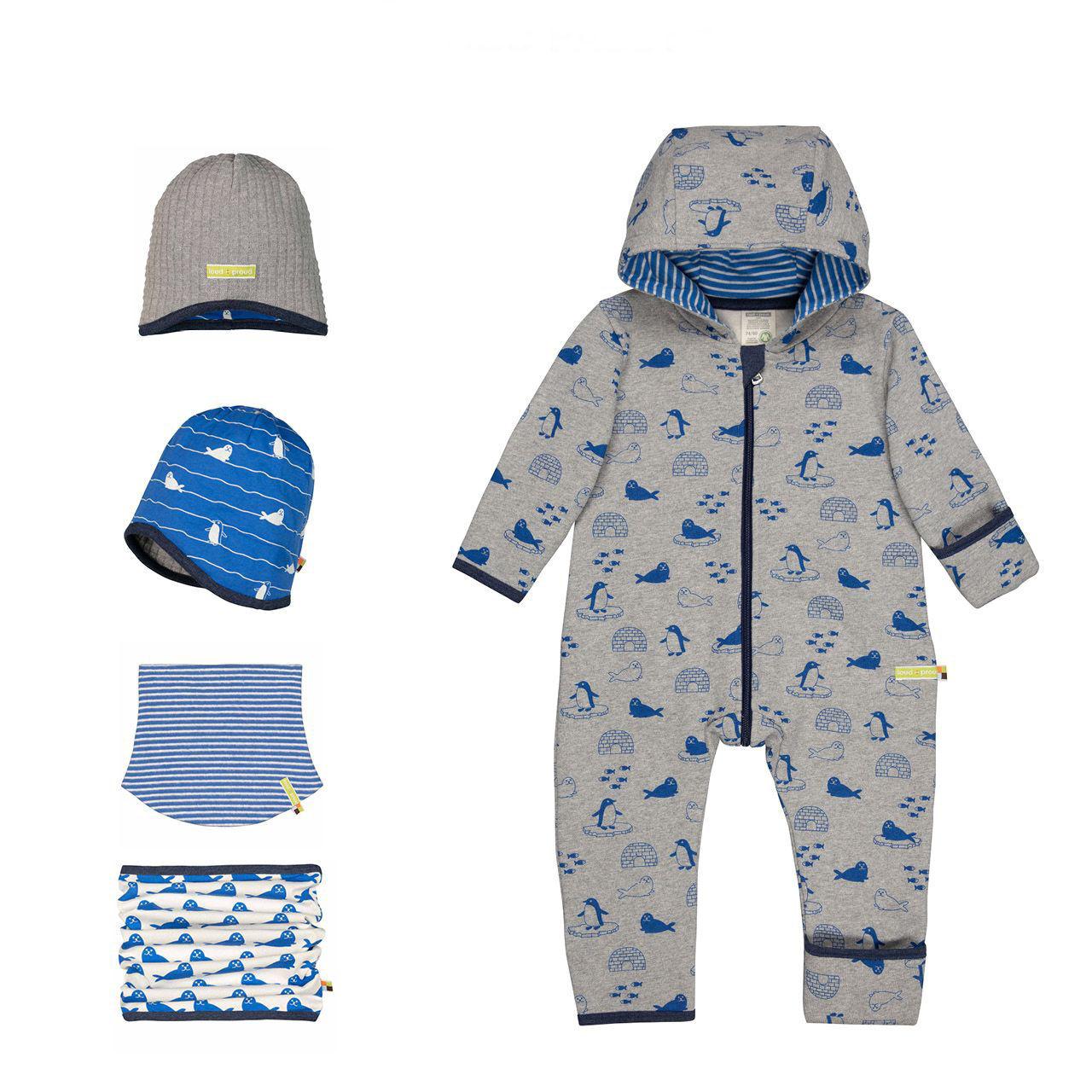 Téli Designer gyerekruha kollekció ötlet kék-szürke