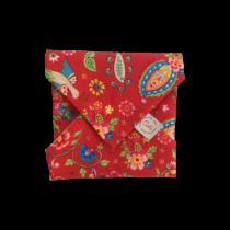 Szendvics csomagoló mosható szalvéta - Piros paradicsommadaras