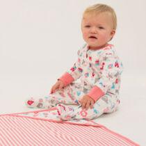 Színes jópofa 0-3 hónapos rugdalózó - a legpuhább organikus pamutból