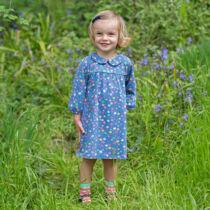 NaturAnyu Babaruha-Gyerekruha Édes kis csillagmintás kislány ruhácska