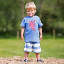 Biopamut, csíkos gyerek rövidnadrág