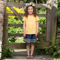 NaturAnyu Babaruha-Gyerekruha Csinos lányka póló organikus pamutból
