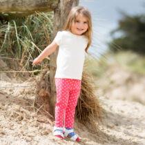 Egyszínű biopamut gyerek póló kis masnival