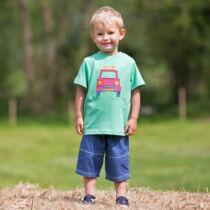 NaturAnyu Babaruha-Gyerekruha Kedves kisautós kisfiú póló
