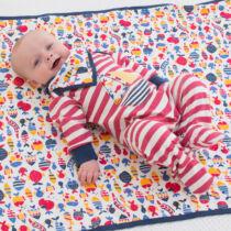 Kényelmes csíkos baba rugi vitorlással