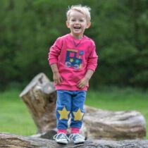 Kényelmes biopamut gyerek melegítő nadrág