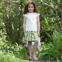 Fehér masnis alkalmi kislány blúz