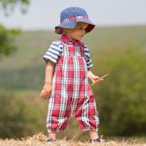 Praktikus kifordítható gyerek sapka - kék