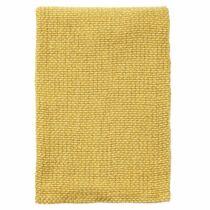 Klippan, kötött takaró 100% biopamut 130*180 cm - sárga