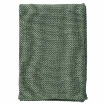 Klippan, kötött takaró 100% biopamut 130*180 cm - zöld