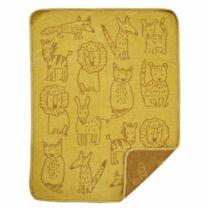Klippan biopamut chenille babapléd, Buddies sárga 70*90