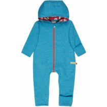 Hordozós baba overál, biopamutból, kapucnival, visszahajtható kéz- és lábfejjel