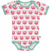 Designer mintás rövid ujjú baba body