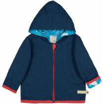 Kifordítható organikuspamut gyerek pulcsi kapucnival
