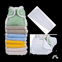 Egyméretes puha pamut mosható pelenka szett szivárvány - PoPoLiNi