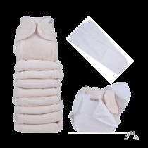 Egyméretes organikus mosható pelenka szett natúr színben - PoPoLiNi