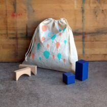 The Sorting Bags lufi mintás vászonzsák, ovis zsák - M