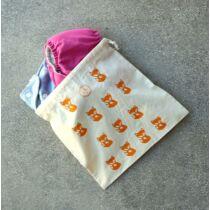 The Sorting Bags róka mintás vászonzsák - M