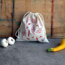 The Sorting Bags bordó mag mintás ökozsák - S