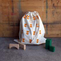 The Sorting Bags Kifli-kávé mintás ökozsák - L