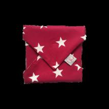 Szendvics csomagoló mosható szalvéta - Rubin csillagos