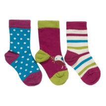 3 pár vidám kényelmes pihe-puha baba zokni