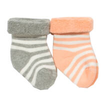 Bársonyosan puha bébiplüss csecsemő zokni - 2 pár