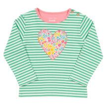 Bársonyosan puha biopamut újszülött póló - bájos szívecskével