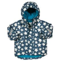 Bélelt kapucnis unisex téli gyerek kabát - menő csillagmintával