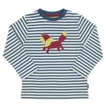 Ravaszdi a róka - vidám csíkos gyerek póló