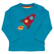 Színes űrhajós újszülött póló - bársonyosan puha biopamutból