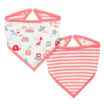 Színes jópofa baba nyálkendő - kétoldalas