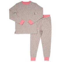 Tündéri szívecskés kislány pizsama - a legpuhább biopamutból