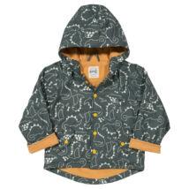 Vízálló bélelt átmeneti gyerek kabát - kedves dinó mintával