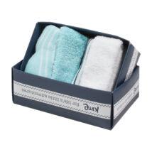 Pihe-puha biopamut baba zokni - 2 pár kék-fehér