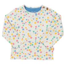 Csillagokkal díszített kislány pamut póló