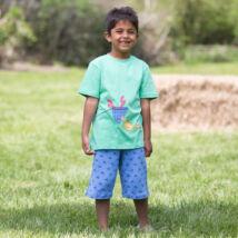 Biopamut kisfiú póló vidám rákocskával