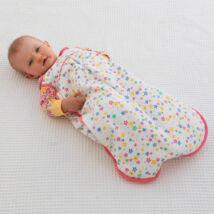 Csillagos biopamut baba hálózsák