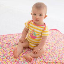 Organikus pamut baba body vitorlással