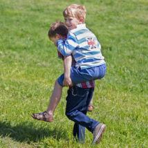 Kék Union Jack galléros fiú póló