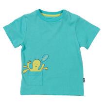 Puha biopamut gyerek póló kedves polip mintával