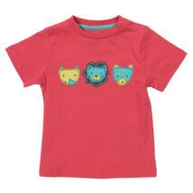 Puha biopamut gyerek póló vagány oroszlán mintával