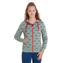Biopamut designer női kapucnis pulcsi Olive - LIMITÁLT MODELL