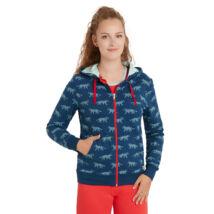 Biopamut designer női kapucnis pulcsi Ultramarine - LIMITÁLT MODELL