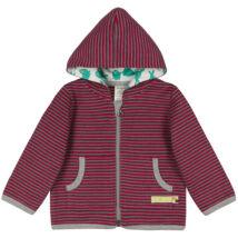 Designer, prémium minőségű, biopamut gyerek pulóver kapucnival