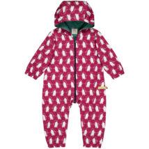 Vízlepergetős, designer baba esőoverál kapucnival, biopamut béléssel