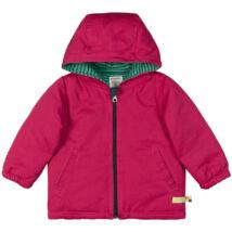 Víz- és piszok lepergetős, bélelt vastag gyerek kabát