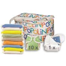 Egyméretes organikus mosható pelenka szett szivárvány - PoPoLiNi