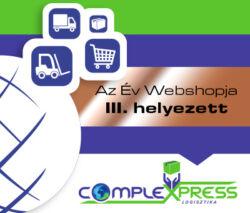 Az év Webshopja III. helyezett 2018